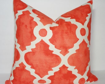 Decorative Pillow Cover Orange Geometric Pillow Cover Throw Pillow Cover Choose Size