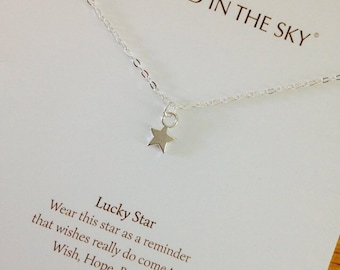 Lucky Star Necklace on Gift Card