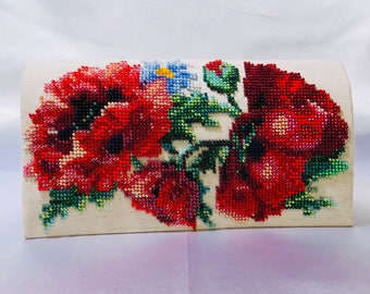 Red Poppies clutch Purse