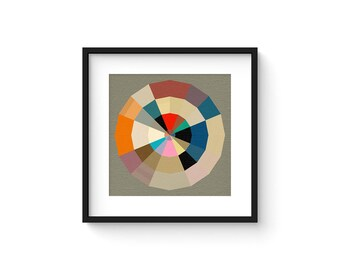 PARTITION no.72 - Mid Century Modern Style Geometric Art Print