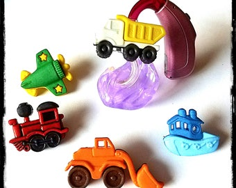 Hearing Aid Tube Trinkets:  Things That Go!  Great for boys or girls!  Please select quantity 2 for a pair!
