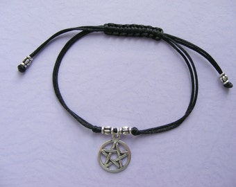 Pentacle Chinese Knot bracelet Pagan Pentagram wiccan Present Gift