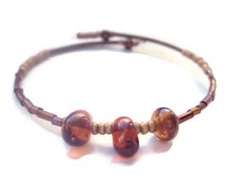Eco Friendly Minimalist Bracelet Gold Amber