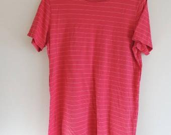 FREE SHIPPING - Vintage MARIMEKKO Pink 100% Cotton short sleeve soft top/tunic, size xl