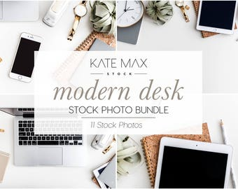 Modern Desk Styled Stock Photo / Product Mockup / 11 Styled Stock Photography / KateMaxStock Photography