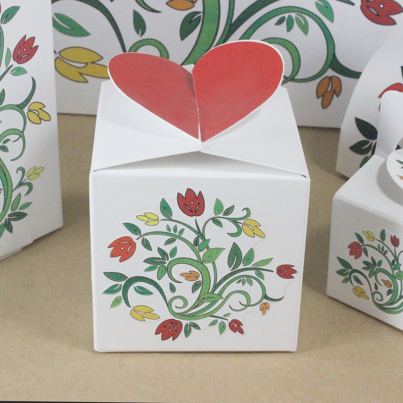 Eight Wedding Favor Boxes, Party Favor Boxes, Treat Boxes, Gift ...