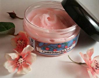 Candied Orchard - Foaming Bath Scrub - Sugar Scrub - Sugar Exfoliator - Fruit Scrub - Candy Apple - Bath Whip - Apple Soap - Pomegranate