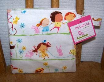 Reusable Little Snack Bag - pouch adults kids children eco friendly by PETUNIAS
