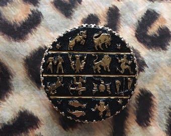 Vintage Zodiac Astrology Scarf Ring