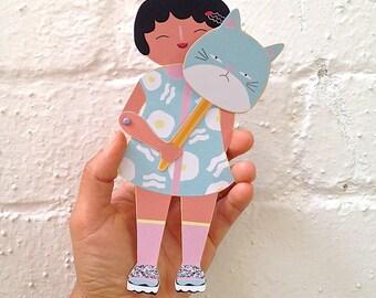 Moveable Paper Puppet | Kawaii | PeekABoo