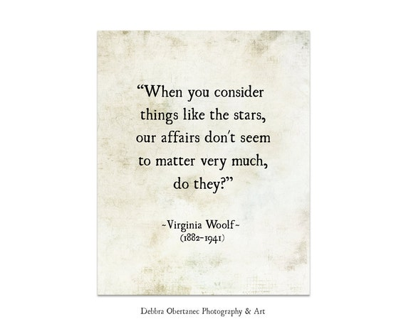City Of Ember Quotes And Page Number: Virginia Woolf Quote Stars Quote Literary Print Literary