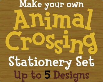 Custom Animal Crossing Stationery Notecard Pack - Up to 5 Designs