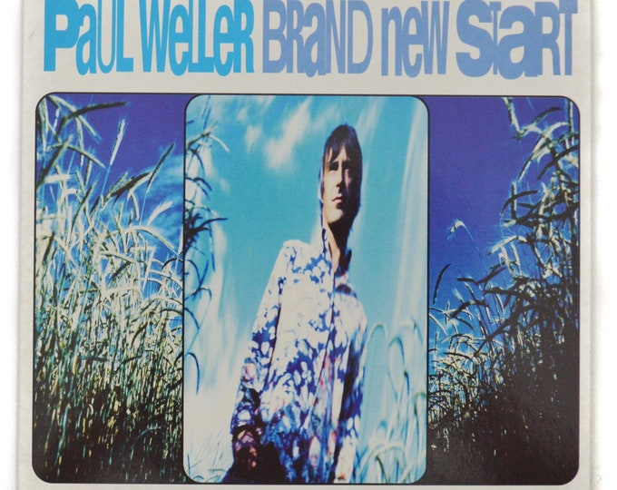 Vintage 90s Paul Weller Brand New Start Alternative Rock 45 RPM Import Single Record Vinyl with Picture Sleeve