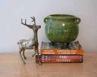 Vintage  Brass Buck with Antlers / Deer Figurine