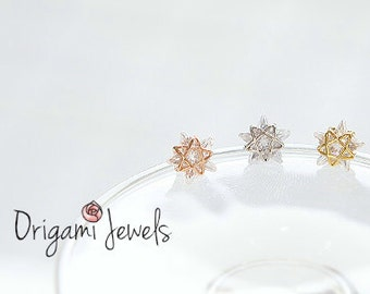 CZ Star cartilage earring, star helix earring, dainty conch piercing, delicate star earring, cubic, wedding jewelry, bridesmaids gifts