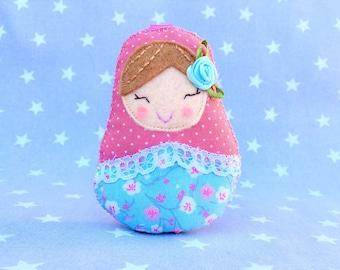 matryoshka, babushka, Key Chain, russian doll, matryoshka doll, babushka doll, custom keychain, felt doll,
