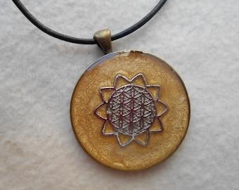 Reiki Infused Mandala Pendant Necklace