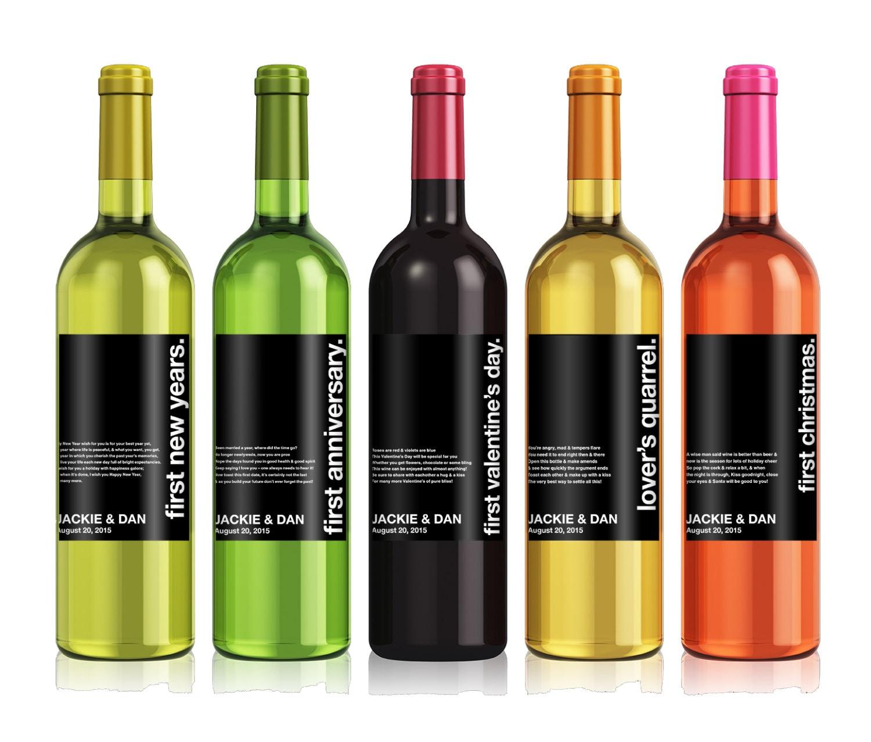 Wedding milestones wine label custom wine label zoom pronofoot35fo Images