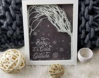 Winter/Snow/Shadow/Box/Christmas/Holiday/Decor/Diorama/Festive/Decor