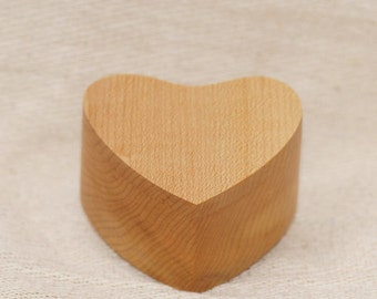Ring Box Heart Box Trinket Box In Maple