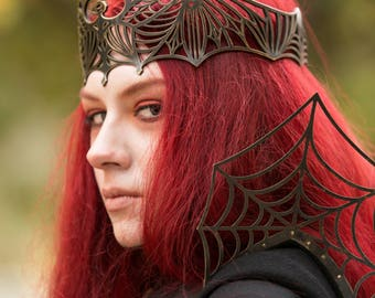 """Medieval Brass Crown """"Dark Queen"""""""