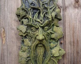 Celtic Green man Garden Wall plaque