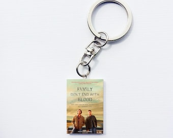 Supernatural Family Don't End With Blood mini book keychain