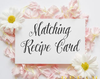 Matching Recipe  Card for your invitation
