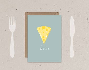 Apology card, greeting card cheese, excuse me, courage Mach card, encouragement, encouragement, sorry, minimalist greetings card, humor