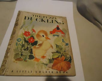Vintage The Fuzzy Duckling Little Golden Book Copyright 1949, collectable