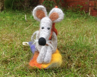 Hand Made Felted Mouse