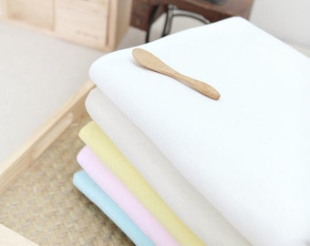 Stretch Cotton Pointelle Knit - White, Sky, Pink or Natural - By the Yard 42571