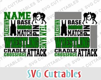 Wrestling svg, Wrestling Subway art SVG, DXF, EPS, Wrestling cut file, Wrestling template, Silhouette file, Cricut cut file, digital file