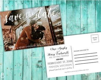 Custom Horizontal Photo Save the Date Postcard
