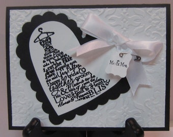 Handmade Greeting Card: Wedding Dress