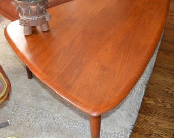 "Solid TEAK 3/4"" Thick..Very Large 71"" at longest points. EXCELLENT Furniture co. from DENMARK..Mid-Century Modern..50s..Vintage"