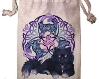 Celtic Black Cat Fluffy -  Pagan Wiccan  - Brigid Ashwood