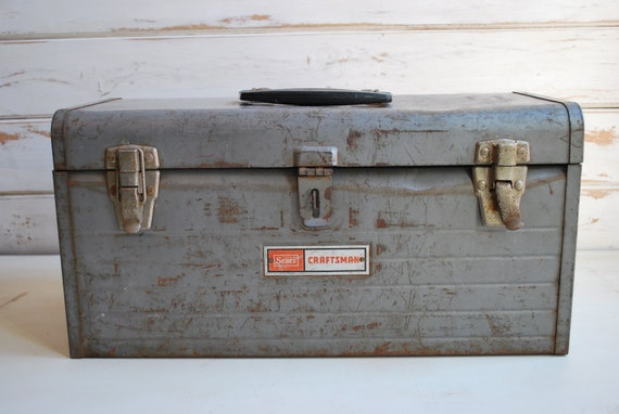 Vintage Sears Tool Box, Craftsman Metal Tool Box, Vintage Craftsman Tool Box,  Vintage Tool Box, Tool Box, Vintage Storage Box, From EnchantedBella On  Etsy ...