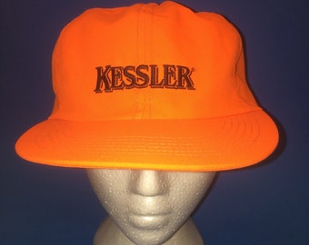 Vintage Kessler fitted hat with ear flappers size L/XL Beer Cold one 1990s