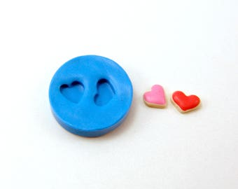 Flexible Silicone Mold // Dollhouse Heart Cookies // 1:12 Scale Food and Food Jewelry Projects
