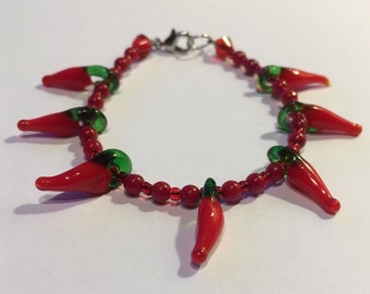 Rockabilly Hot Pepper Jewelry Set