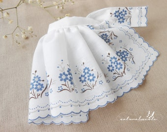 FREE SHIPPING! Vintage style doll clothing,vintage pretty blue flowery skirt to bunny/cat dolls, cloths for dolls, dress doll