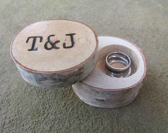 Premium Birch Ring Box | Birch Wedding Ring Box | Rustic Wedding Box | Country Wedding Box