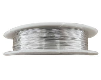 Spool of 15 meters of 0.4 mm fil004 silver colored copper wire