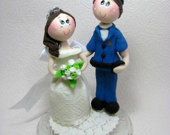 Custom wedding cake topper, Funny wedding cake topper, Police cake topper