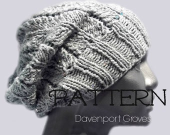 Fern Slouch Hat PDF Knitting Pattern