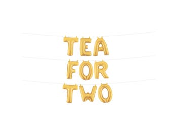 Tea for Two Balloons, Tea for Two Birthday, Tea Party Decorations