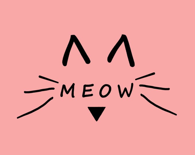 Meow Printed Greeting Card