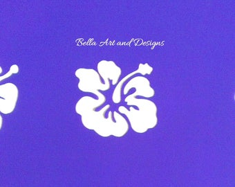 List 1 - Assorted Hibiscus Flower Stencils (Price is per design/photo) *Free gift with every order*
