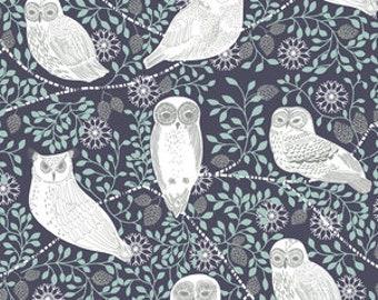 Organic cotton Crib sheets and Mini crib sheets including chicco lullago 4moms Bloom Baby Nuna Sena etc Blue white snowy owls trees forest